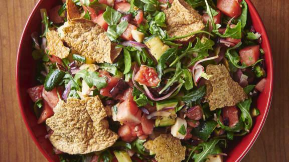 Jeudi : Salade de melons et halloumi grillé