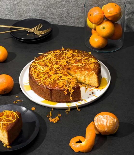 Gâteau au yogourt, aux amandes et à la clémentine