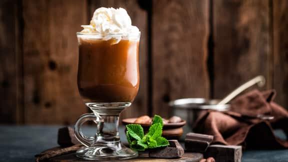 Chocolat chaud au moka