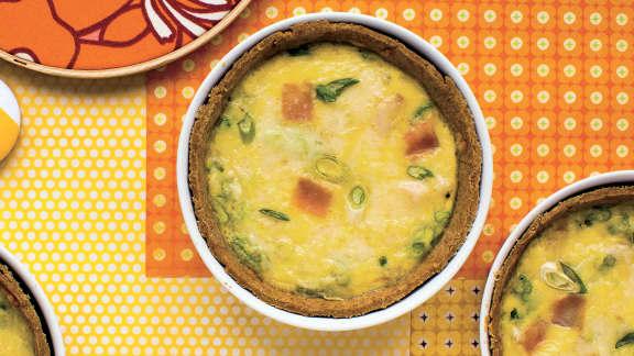 Quiche sans gluten au jambon et au fromage
