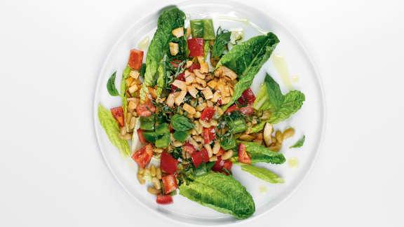 Salade de flageolets à la noix de coco et au basilic