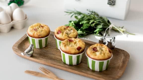 Quiches-muffins au capicollo, cœur fondant aux artichauts