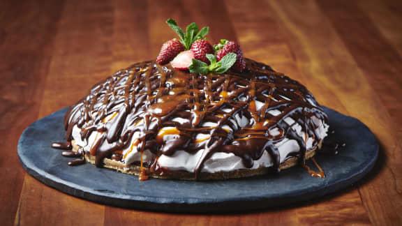 Whippet géant à la fraise et au caramel salé