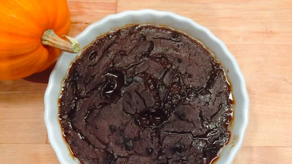 Crème brûlé au cacao et citrouille blanche