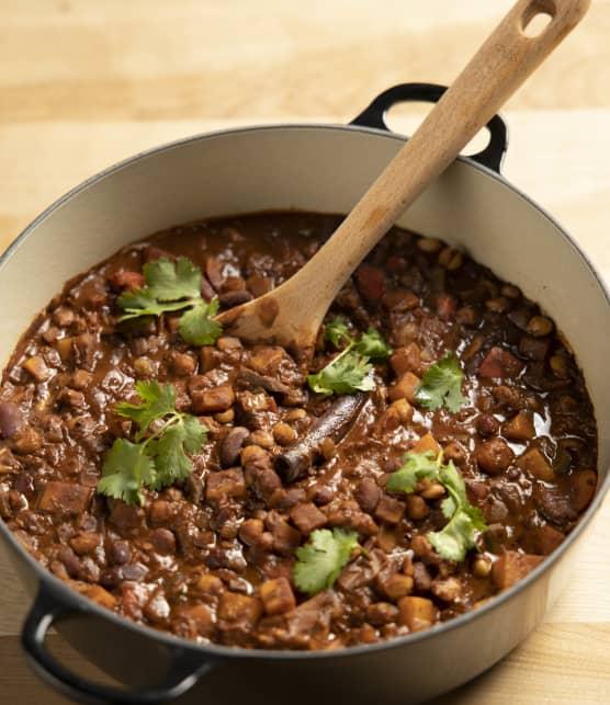 Choco-chili végétarien