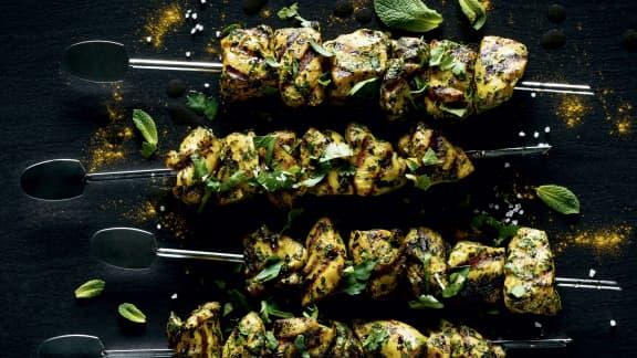 Lundi : Brochettes de poulet à la mode de Fès