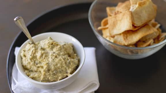 Hummus aux artichauts et herbes fraîches