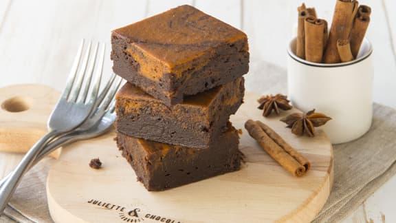 Le brownie à la citrouille de Juliette & Chocolat est de retour!