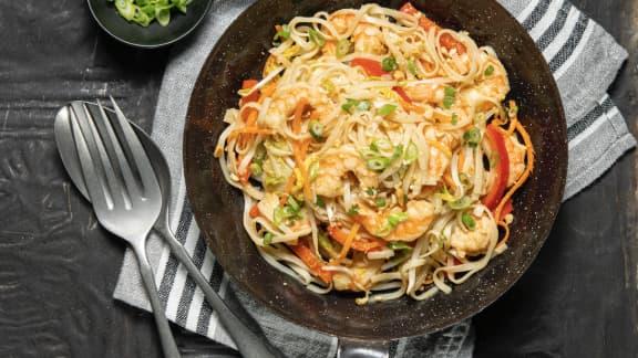 Mercredi : Pad thaï aux crevettes