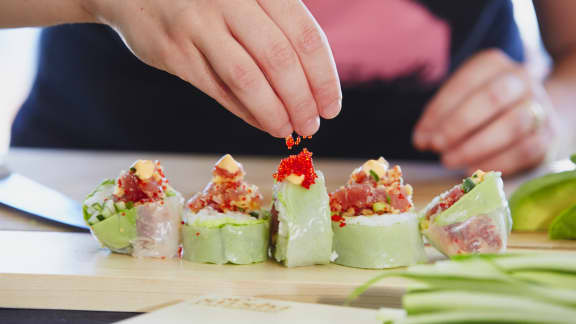 Maki de printemps au tartare de thon rouge
