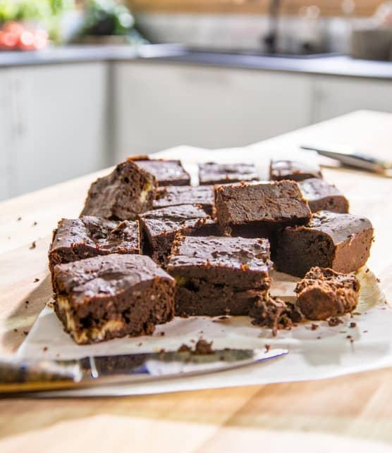 Brownies aux haricots noirs et aux bananes