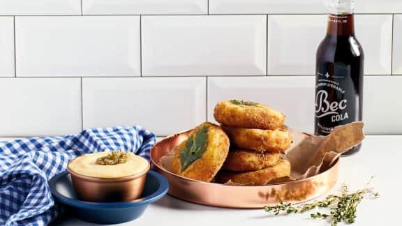 Recette de croquettes de pommes de terre, fromage en grains et livèche