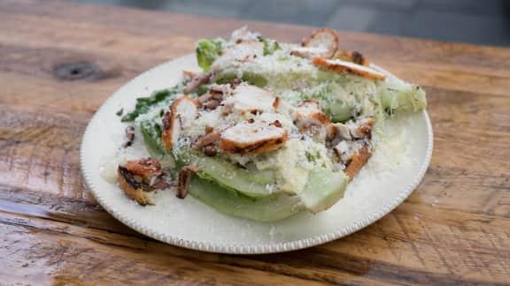 Salade César sur le grill