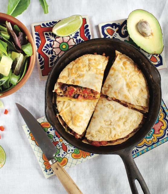 Étagé à la mexicaine et salade verte