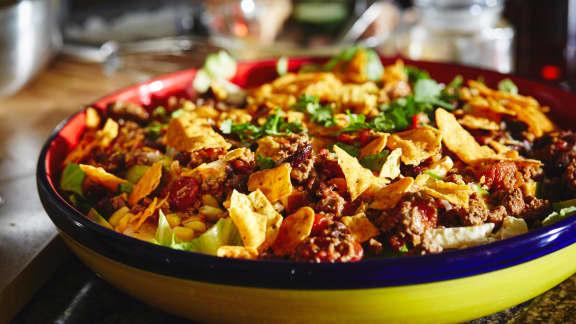 recette de salade mexicaine au chili foodlavie. Black Bedroom Furniture Sets. Home Design Ideas