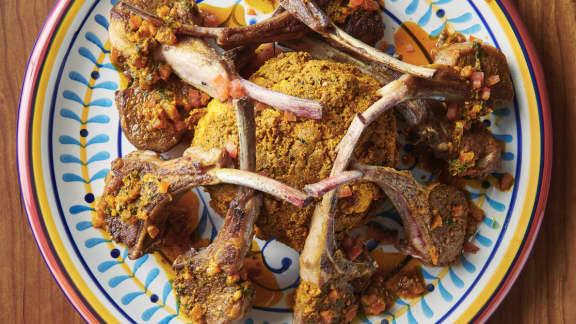 Côtelettes d'agneau à la marocaine et chou-fleur rôti Casablanca