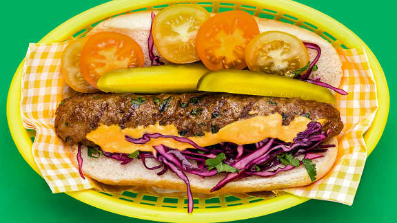 Hot dog berbère