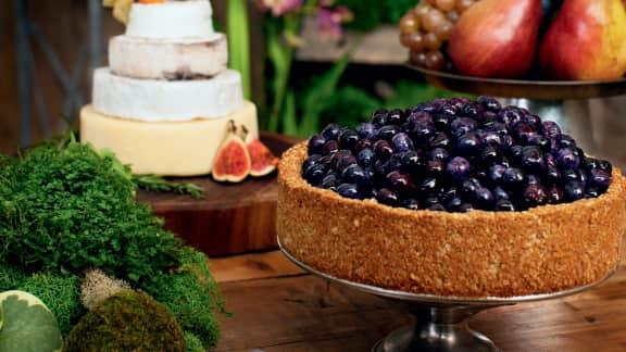 Gâteaux biscuits aux amandes et bleuets