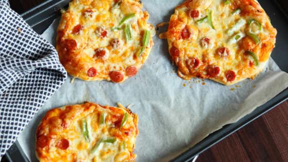 Mini-pizzas maison