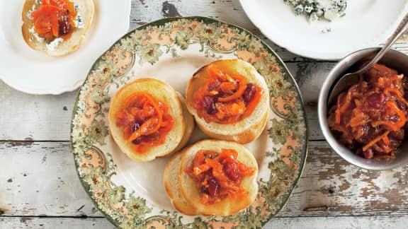 Marmelade de clémentines et canneberges