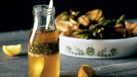 Marinade pour légumes au miel, vinaigre balsamique et herbes de Provence