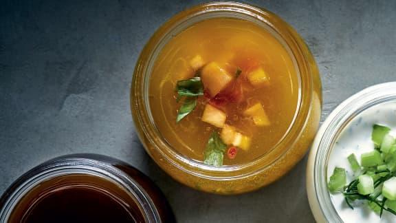 Vinaigrette au cantaloup et à l'anis étoilé