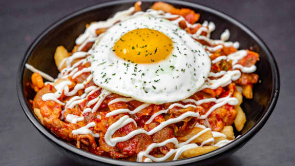 Poutine kimchi frite - Sam Cha