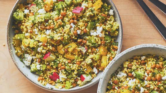 Salade de couscous aux légumes