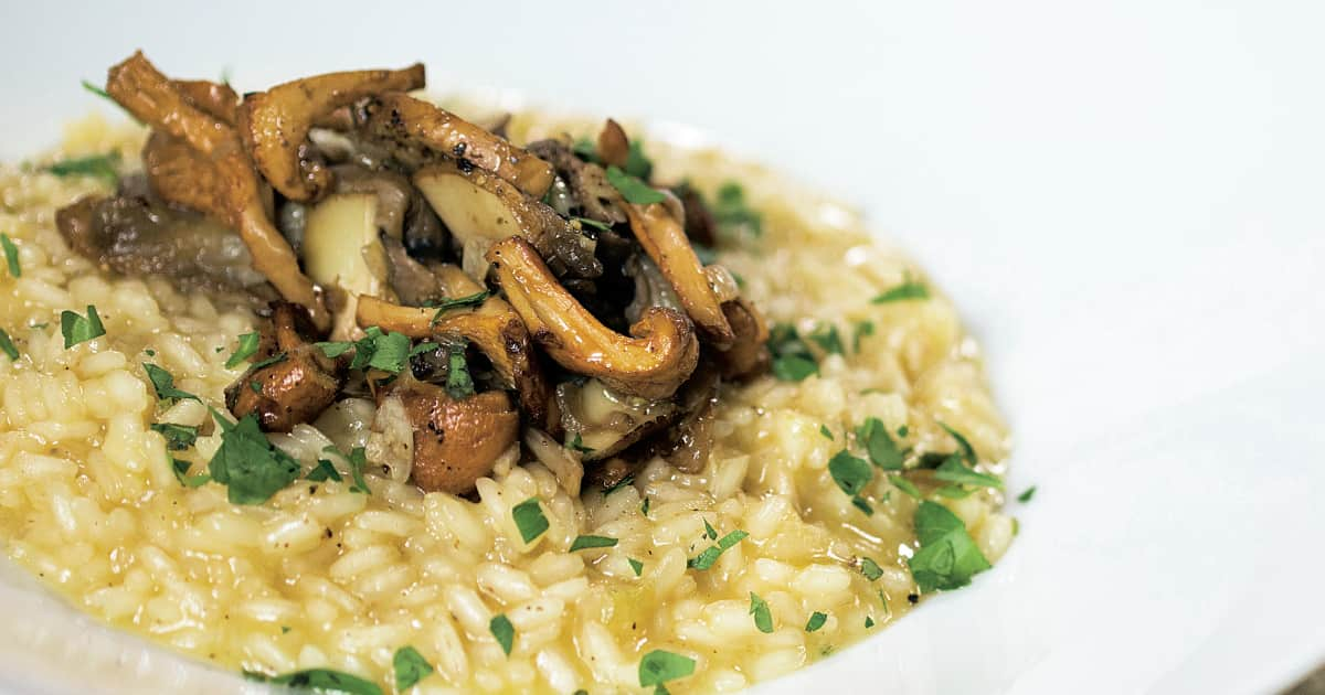 Recette de risotto aux champignons   Zeste
