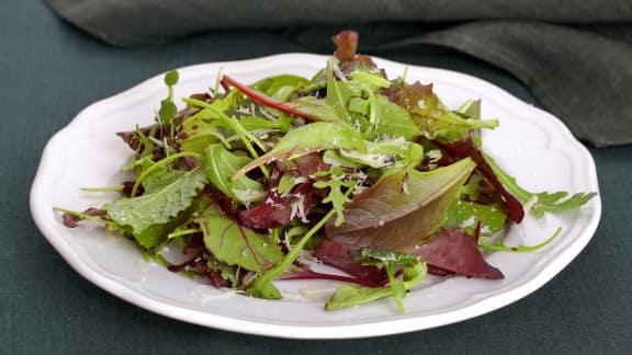 salade verte et vinaigrette italienne