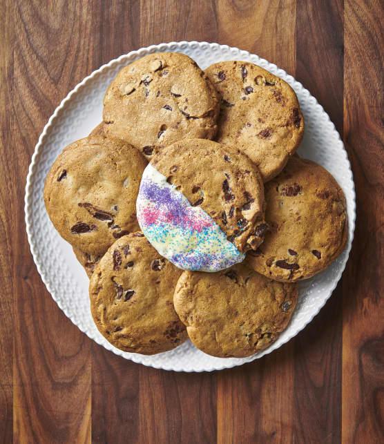Biscuits aux pépites de chocolat géants