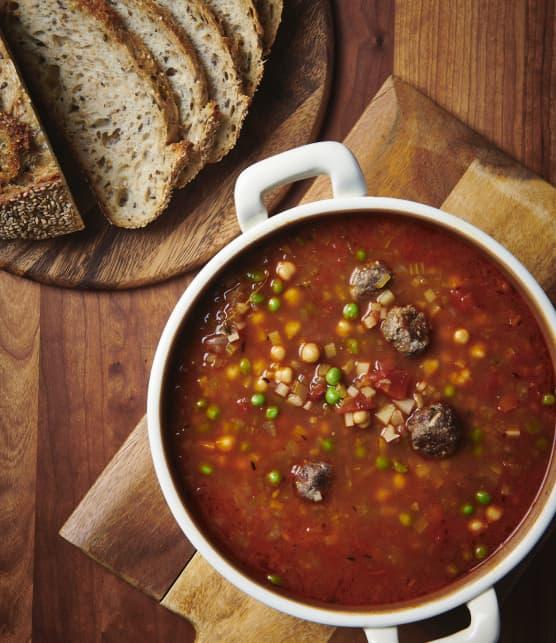 Chorba Turc (soupe aux boulettes de viande)