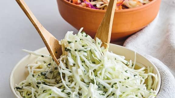 Salade de chou crémeuse aux herbes