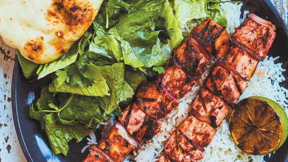 Vendredi : Brochettes de tofu tandoori