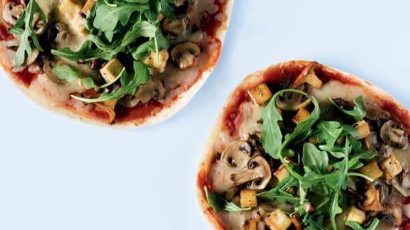 Pizza express aux champignons