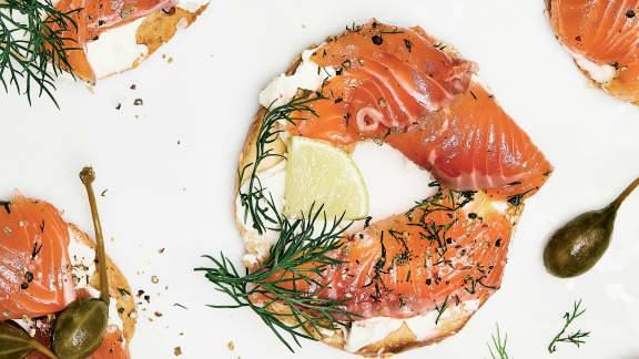 Gravlax de saumon à l'érable