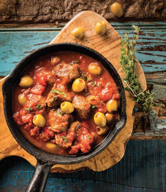 Sauté de caribou aux olives