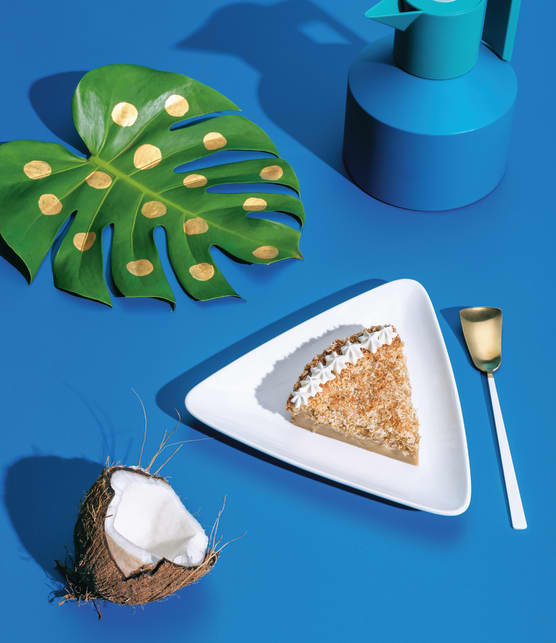 Tarte impossible à la noix de coco et au sirop d'érable