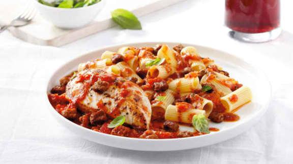 Sauce tomate aux dés de Salciccia italienne