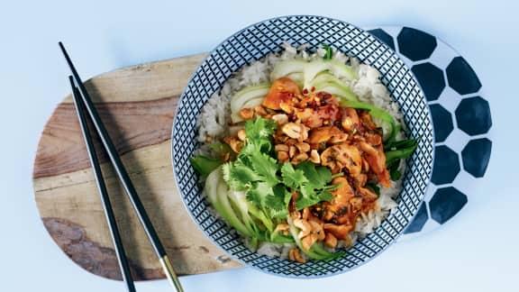 Sauté de bok choy au gingembre et au poulet