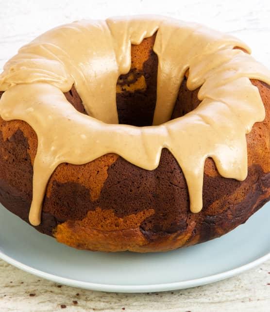 Gâteau Bundt citrouille choco, glaçage caramel écossais