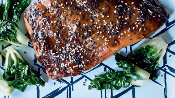 Saumon au soya et au gingembre