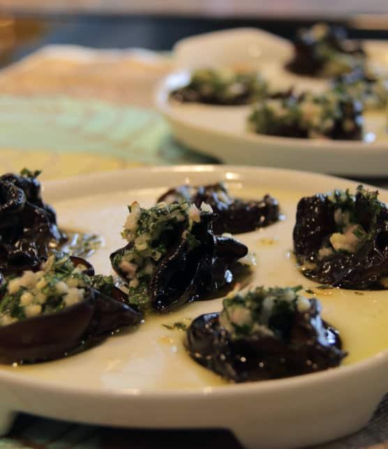 Champignons façon escargots de Bourgogne