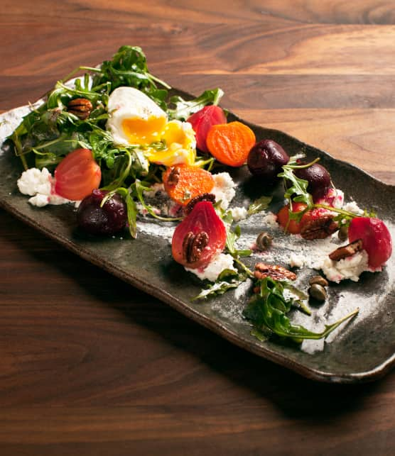 salade de betteraves au chèvre frais
