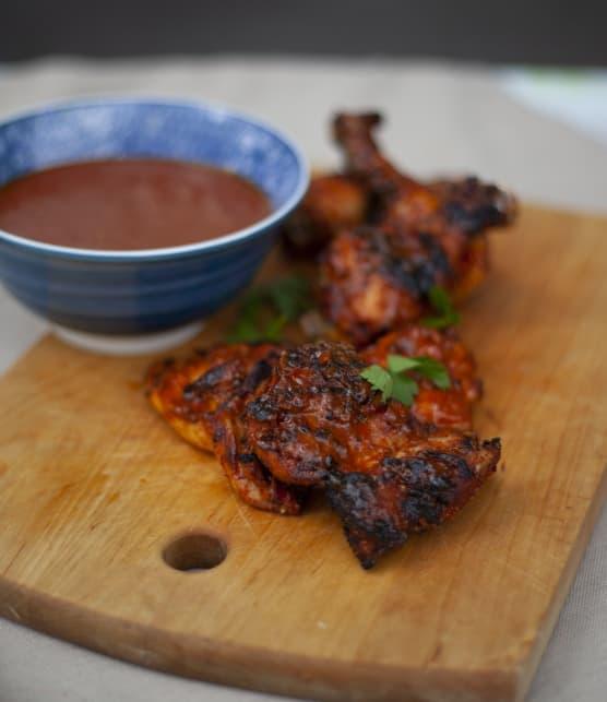Hauts de cuisse à la marinade sèche et sauce BBQ