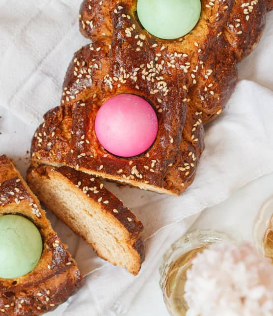 gâteau sec de Pâques (Tsoureki)