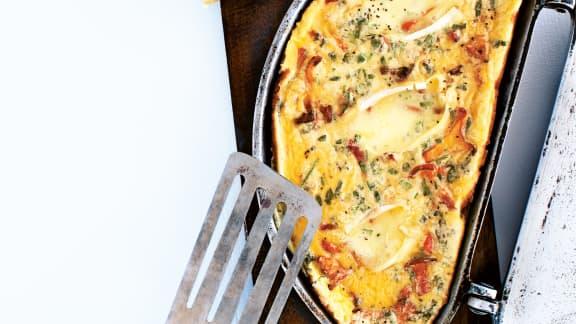 Omelette au Gaulois de Portneuf et aux chanterelles