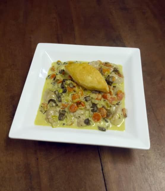 Ris de veau aux petits légumes