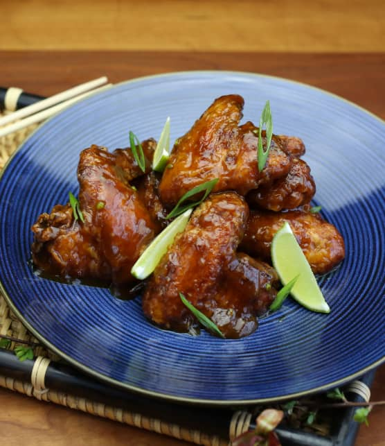 Ailes de poulet glacées à la coréenne