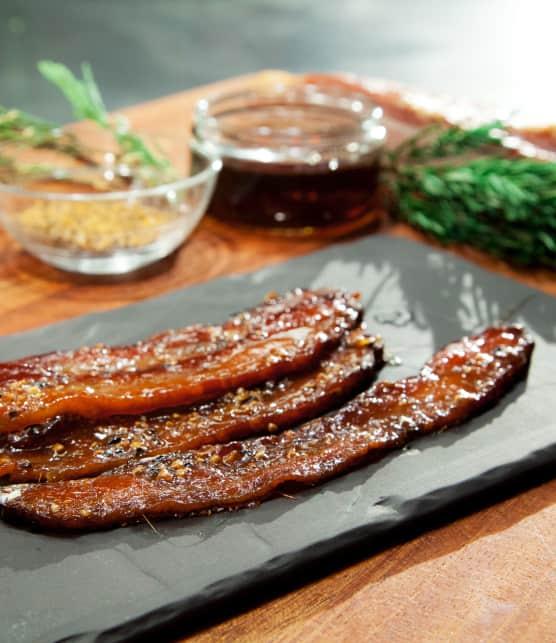 Comment préparer du bacon laqué à l'érable